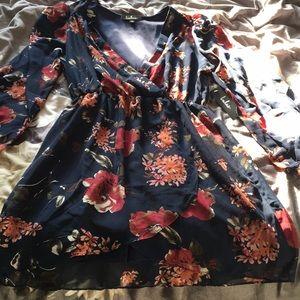 Lulus long sleeve floral dress